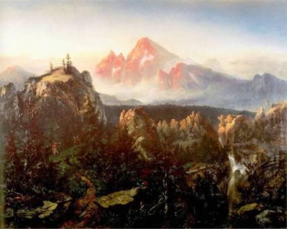 Alfred Schouppé – twórca pejzaży z miniaturowymi postaciamiw tle