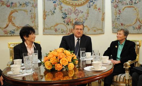 Prezydent spotkał się z wdowąpo Władysławie Szpilmanie