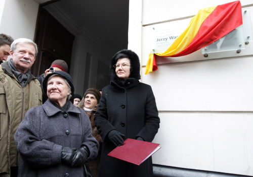 Odsłonięto tablicę poświęconąpamięci Jerzego Wasowskiego