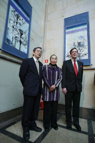 Japońska artystka podarowała Muzeum Narodowemu dwie prace