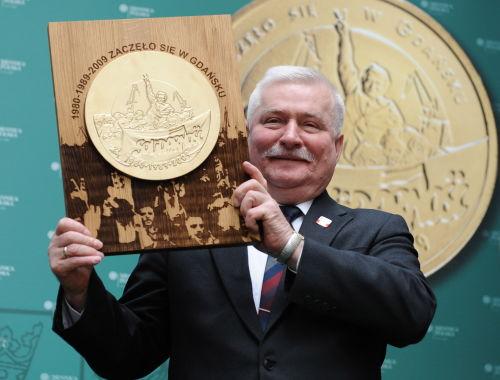 Lech Wałęsa na talarach