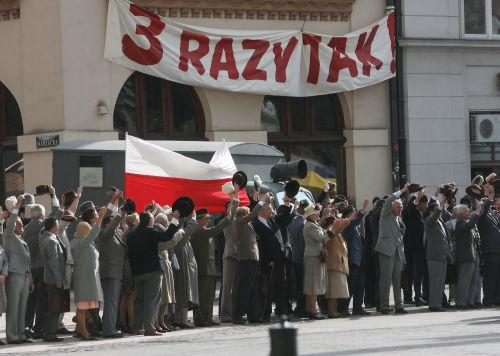 "Janusz Majewski kręci w Krakowie film ""Mała Matura 1947"""