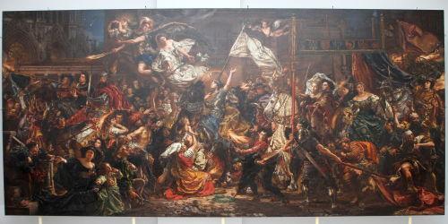 W Rogalinie pokazano po konserwacji największy obraz Jana Matejki