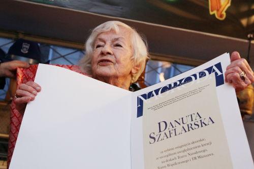Nagroda dla aktorki Danuty Szaflarskiej w Międzynarodowym Dniu Teatru