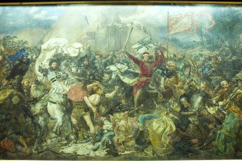 Konserwacja obrazu Matejki w 600. rocznicę bitwy pod Grunwaldem