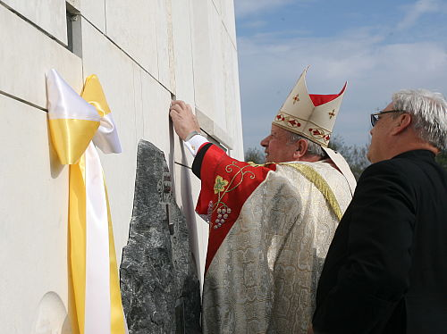 Wmurowano kamień węgielny podświątynię w Centrum Jana Pawła II
