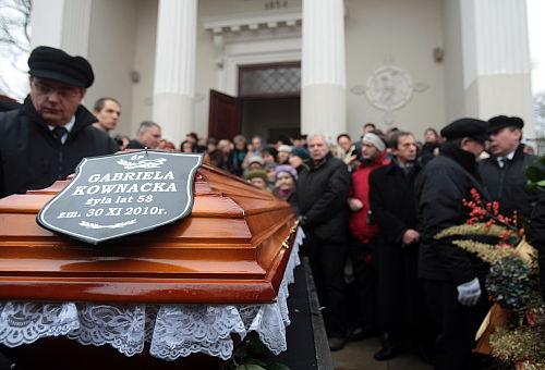 Pogrzeb Gabrieli Kownackiej wWarszawie