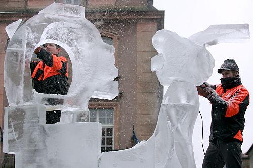 Mistrz świata wygrał V Międzynarodowy Festiwal Rzeźby Lodowej w Poznaniu