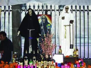 Meksykański ołtarz Santa Muerte…