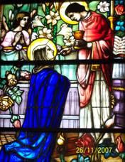 Witraże kościoła w Rzezawie