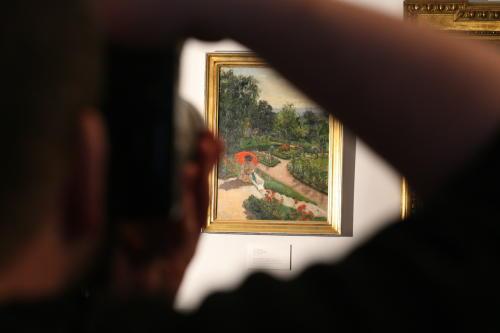"""""""Czerwona parasolka"""" Mehoffera własnością Muzeum Narodowegow Krakowie"""