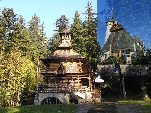 Zabytki Zakopanego – Jaszczurówka czyli Kaplica Najświętszego Serca Pana Jezusa i Krzeptówki –  Sanktuarium Matki  Bożej