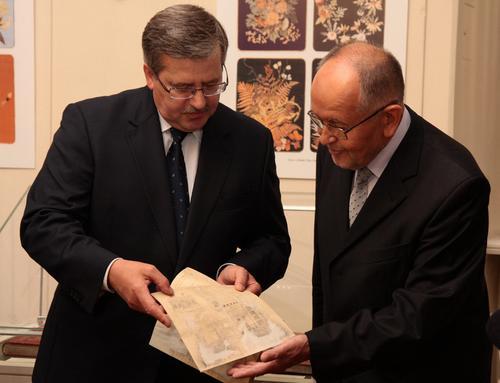 B. Komorowski przekazał Ossolineum listy ze zbiorów rodzinnych