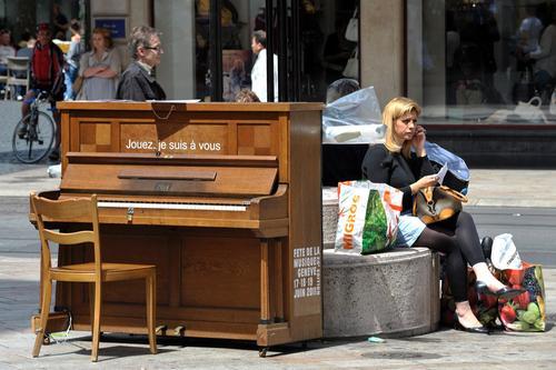 Fortepiany i pianina na ulicach Nowego Jorku