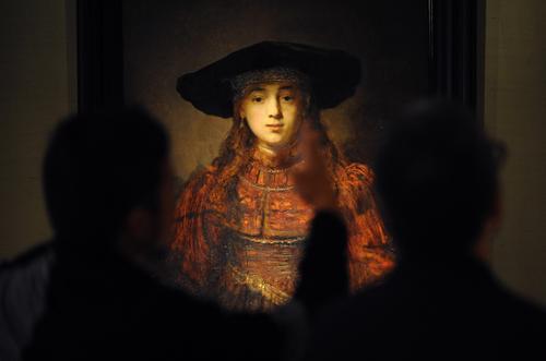 Prezydent na ekspozycji obrazu Rembrandta w Łazienkach Królewskich
