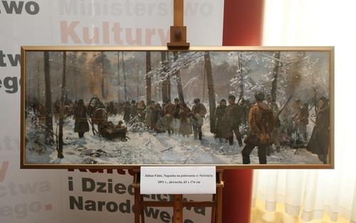 Odzyskane obrazy Juliana Fałata są już w Muzeum Narodowym wWarszawie