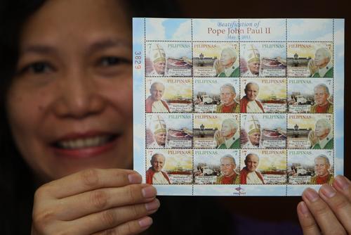 Wystawa w Sofii: beatyfikacjaJana Pawła II w znaczkach pocztowych