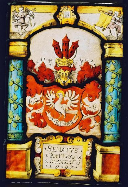 Oleśnicki witraż gabinetowy z1597 roku