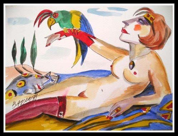 Kolor, kontrast i deformacja– esencja twórczości Hanny Bakuły.